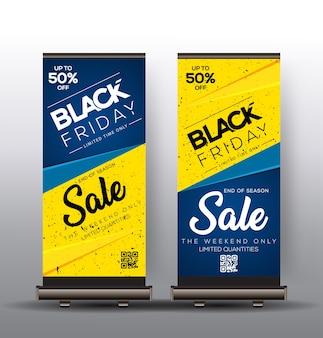 Enrole design de modelo com vendas de sexta-feira negra