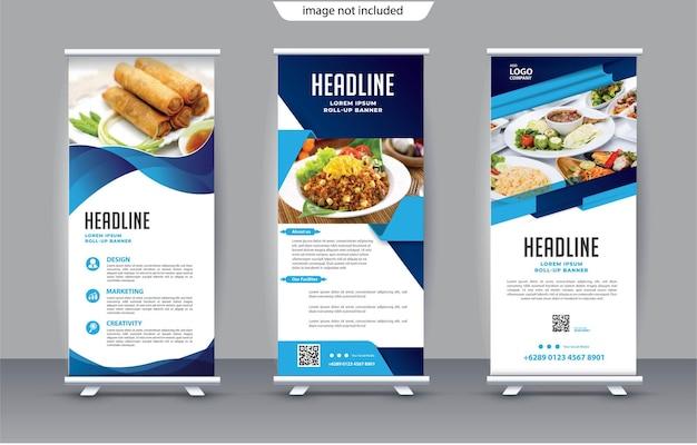 Enrole modelo de banner para promoção de estande
