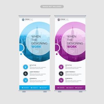 Enrole modelo de design de banner