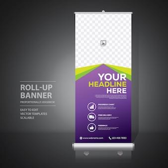 Enrole o modelo de design de banner