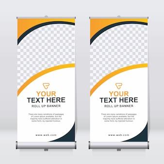 Enrole o modelo de design do banner