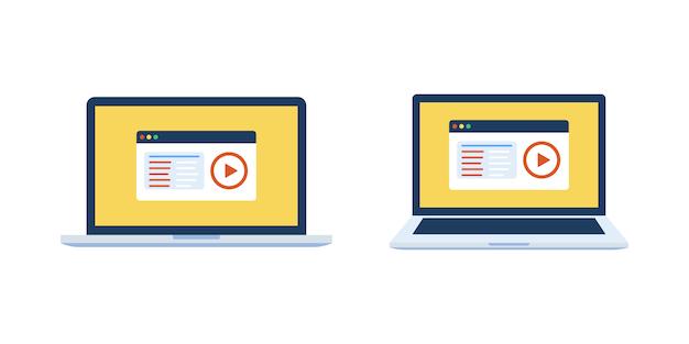 Ensino a distância em vídeo de educação on-line