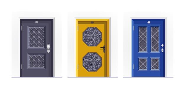 Entradas de casas portas fechadas