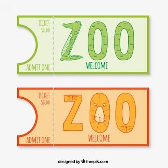 Entradas do jardim zoológico do crocodilo e do leão