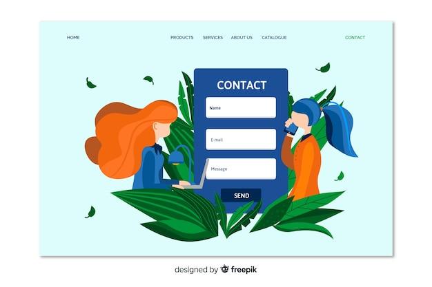 Entre em contato com a página de destino do cliente