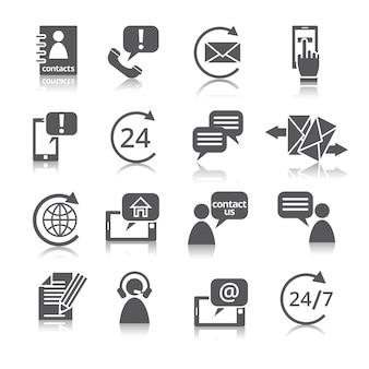 Entre em contato conosco ícones de serviço