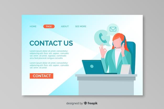Entre em contato conosco modelo da web da página de destino