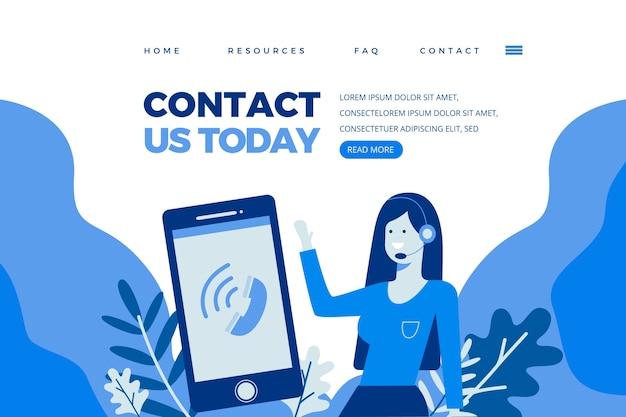 Entre em contato conosco modelo de página de destino