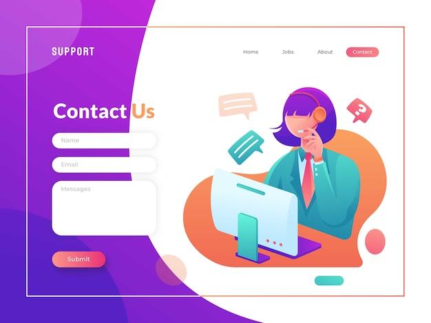 Entre em contato conosco modelo de página
