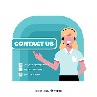 Entre em contato conosco plano de fundo design