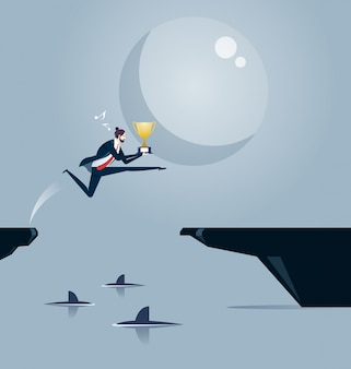Entre os tubarões. ilustração do conceito de negócio.