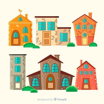 Entrega a coleção desenhada de casas