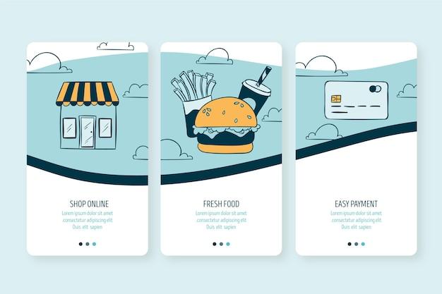 Entrega de alimentos - telas de integração