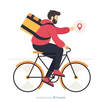 Entrega de bicicleta