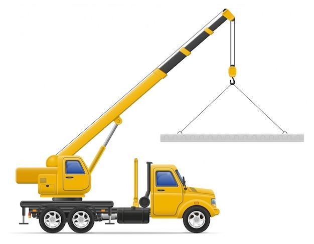 Entrega de caminhão de carga e transporte de ilustração em vetor conceito materiais de construção