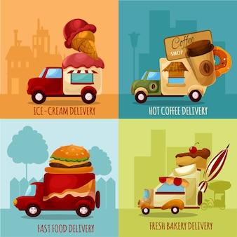 Entrega de comida móvel