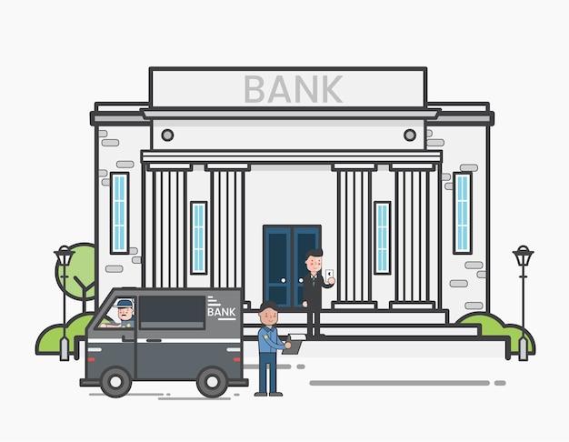 Entrega de dinheiro em um banco