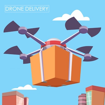 Entrega de drones de ar