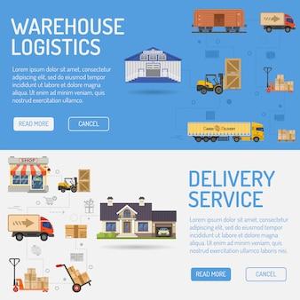 Entrega e logística em armazém