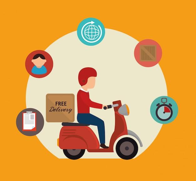 Entrega gratuita e transporte