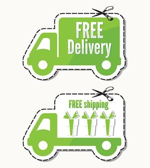 Entrega gratuita, etiquetas de frete grátis