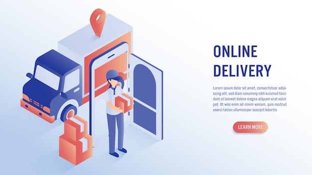 Entrega on-line com conceito móvel.