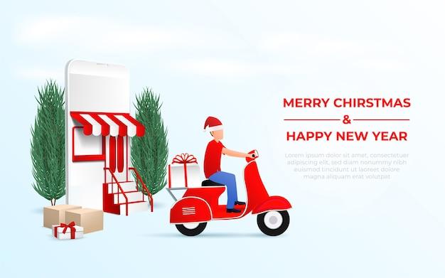 Entrega online de compras de natal