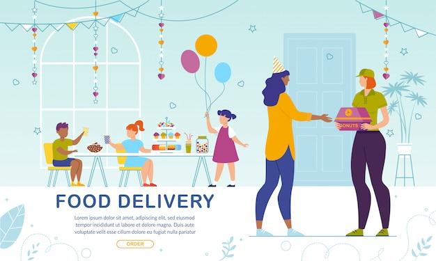 Entrega online de pastelaria doce para crianças