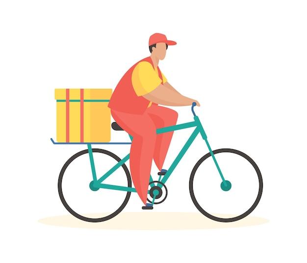 Entrega por correio de bicicleta envio móvel confortável com logística online