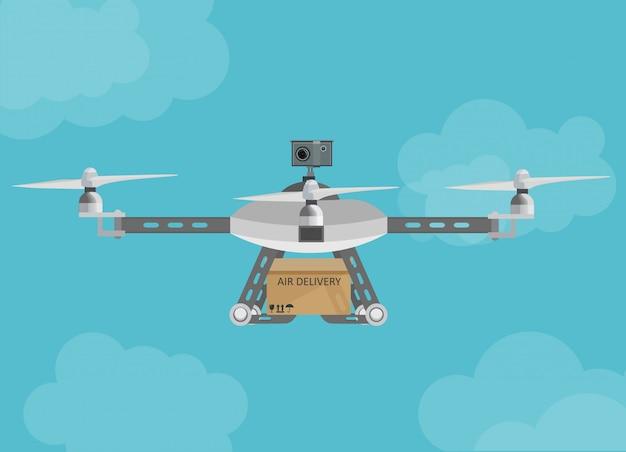 Entrega remota por drones aéreos
