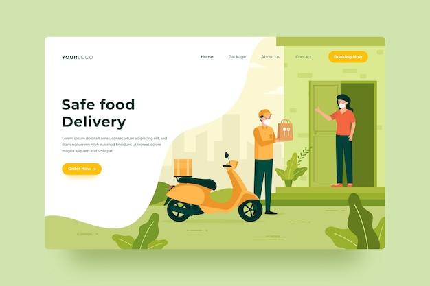 Entrega segura de alimentos - página de destino
