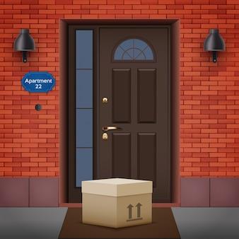 Entrega sem contato deixada na porta