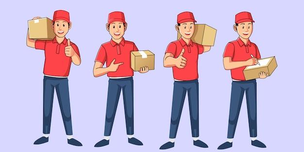 Entregador de pacotes.
