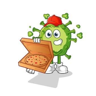 Entregador de pizza de vírus.