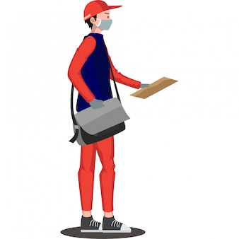 Entregador está entregando documento