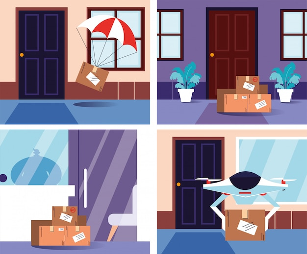 Entregas sem contato na porta da casa