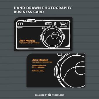 Entregue o cartão de estúdio de fotografia tirada