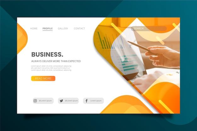 Entregue sempre mais do que a página de destino esperada Vetor Premium