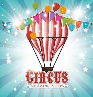 Entretenimento de circo incrível show vector ilustração design