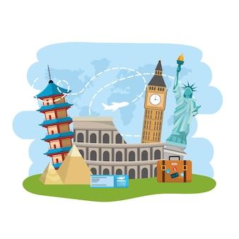 Entretenimento de destino de viagem local internacional