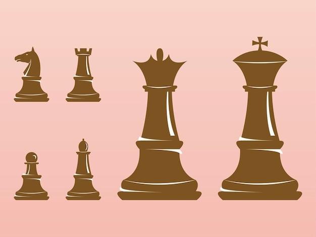 Entretenimento jogo de xadrez figuras vector