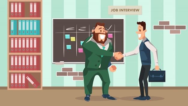 Entrevista de emprego bem sucedida