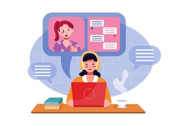 Entrevista de emprego ilustração conceito