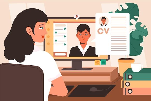Entrevista de emprego on-line