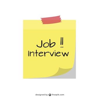 Entrevista de trabalho nota pegajosa