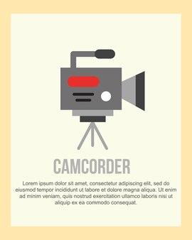 Entrevista de vídeo filmadora de comunicação de notícias