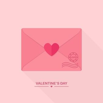 Envelope com mensagem de amor e coração