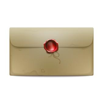 Envelope com selo de cera