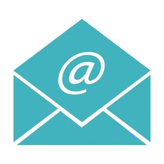 Envelope com sinal do correio eletrônico