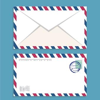 Envelope de correio aéreo com carimbo postal